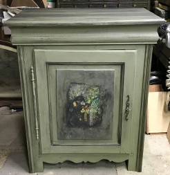 Antique French Painted Pine Confiturier