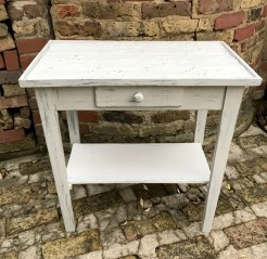 Rustic Painted French Table with Drawer
