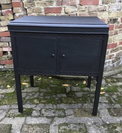 Black Painted Gramophone Cupboard
