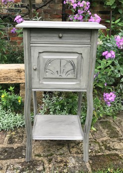 Marble Top Vintage French Bedside Table