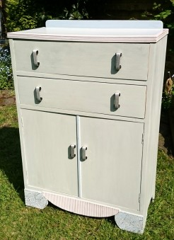 1930s Pastel Painted Cupboard