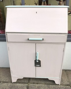 Petite Bureau in Powder Pink and Menthe Green