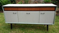Grey Painted Retro Sideboard