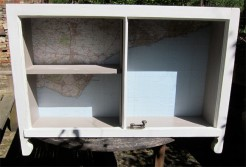 Wall Shelf Unit With Map of East Sussex