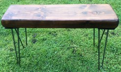 Hairpin Chunky Wooden Bench