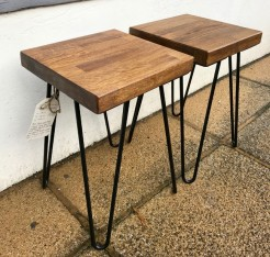 Oak Top Hairpin Legs Small Tables
