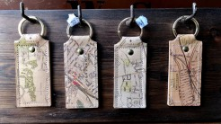 Wimbledon and Raynes Park Leather Key Rings