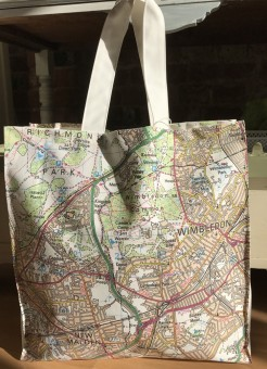 Local Wimbledon and Raynes Park Maps Bag or Shopper