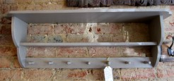 Double Shelf Peg Rail Coat Rack