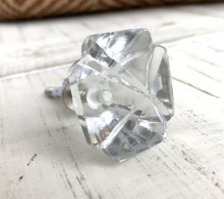 Cut Glass Squarish Knob