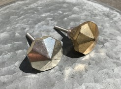 Gold and Silver Diamond Drawer Knobs