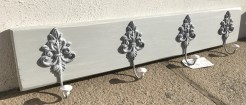 French Style Grey Painted Coatrack