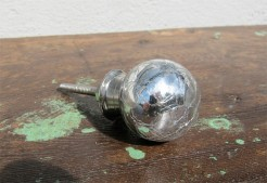Silver Crackle Knob