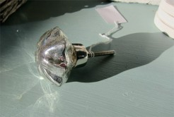 Silver Fluted Knob