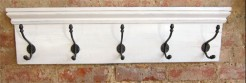 White coatrack with mini shelf