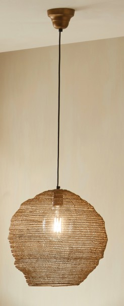 Wire Mesh Pendant Antique Gold