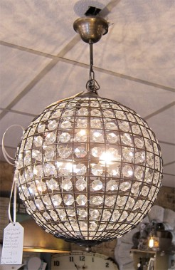 Glass and Metal Ball Ceiling Light