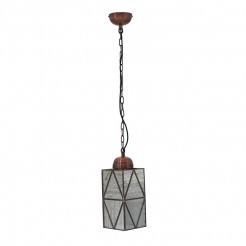 Copper Mercury Effect Glass Lantern