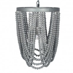 Grey Beaded Pendant Light