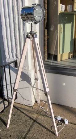 White Floor Standing Tripod Film Light