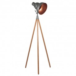 Retro Grey and Copper Film Style Tripod Light