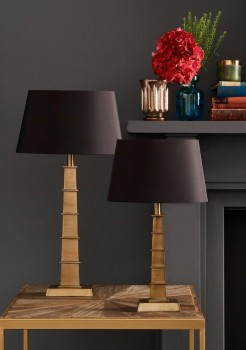 Brass Pagoda Style Table Lamp