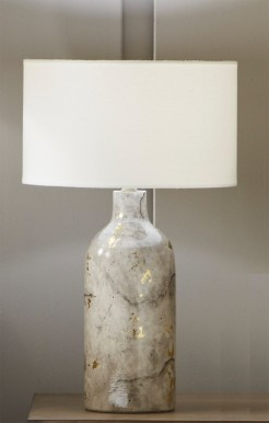 Grey Marble Effect Gold Flecked Table Lamp