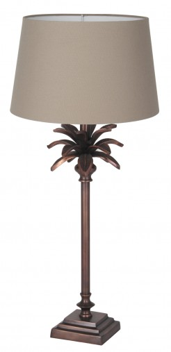 Copper Table Lamp With Leaves