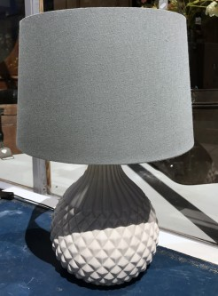 Ceramic Grey Pineapple Lamp With Shade