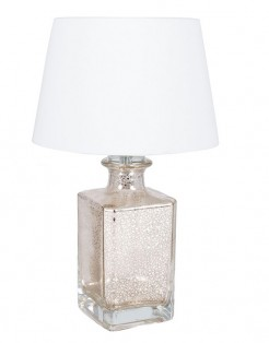 Mercury Glass Style Lamp With Shade