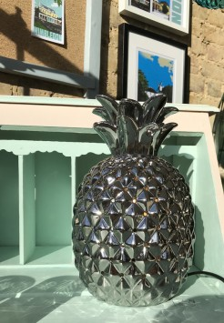 Silver Pineapple Lamp