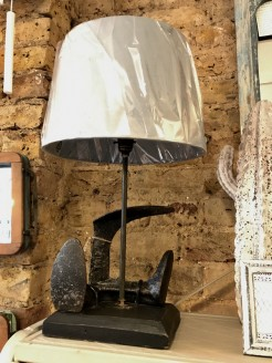 Upcycled Shoe Last Lamp