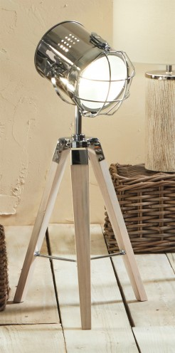White Wash Tripod Nautical Style Film Light