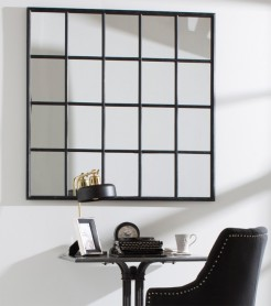 Window Multi 20 Pane Industrial Style Metal Mirror