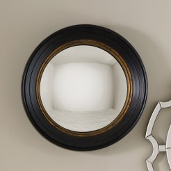 Black and Gold Convex Mirror