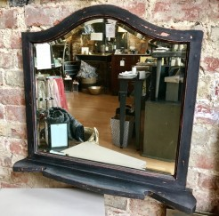 Upcycled Antique Mirror with Shelf