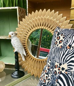 Gold Feather Design Mirror