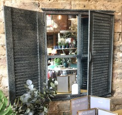 Metal Shutter Mirror for Inside or Outside