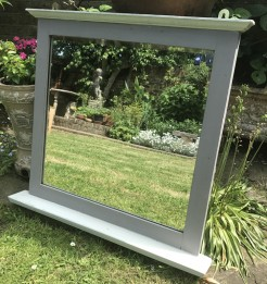 Upcycled Edwardian Mirror With Shelf