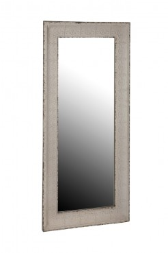 Embossed Metal Floor Standing Mirror