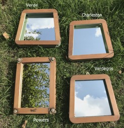 Tennis Press Mirrors with Painted Inside Edge