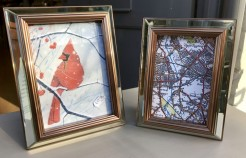 Glass and Copper Picture Frames