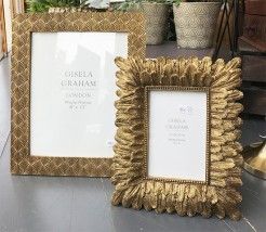 Gold Feather and Art Deco Style Frames