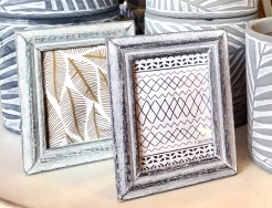 Rustic Mini Wooden Grey and Green Photo Frames