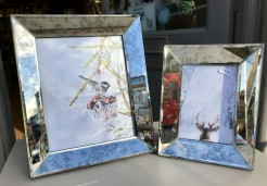 Mottled Mirrored Glass Photo Frames