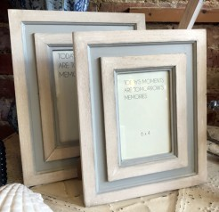Grey and Wood Photo Frames