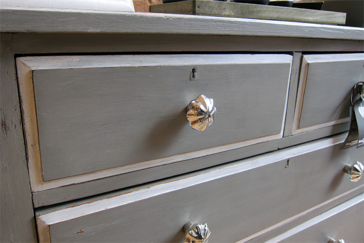 Grey Painted Chest Of Drawers