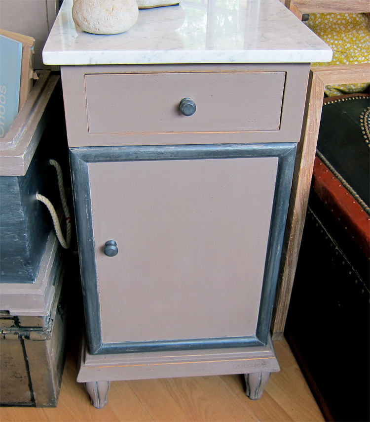 Marble Top Bedside Table