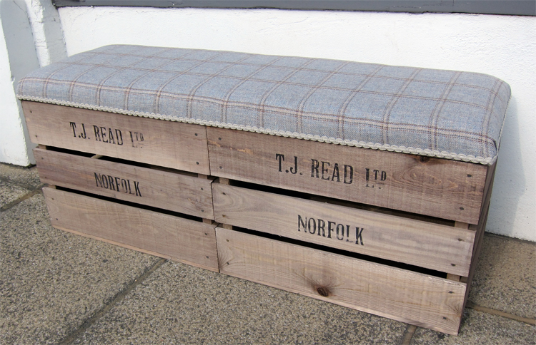 Double Apple Crate Storage Bench